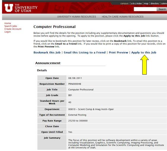 Application Process Staff The University Of Utah